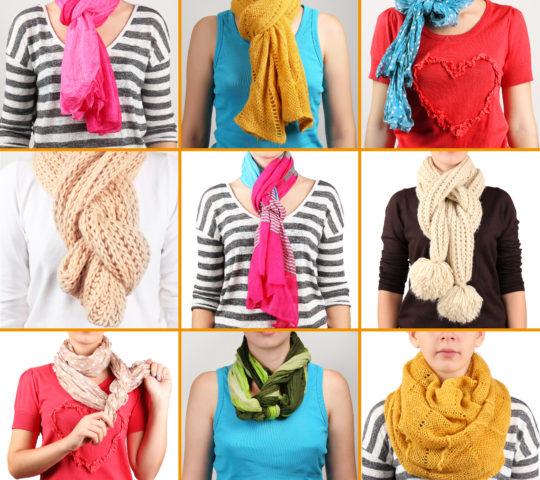 Tip jak uvázat šálu a šátek