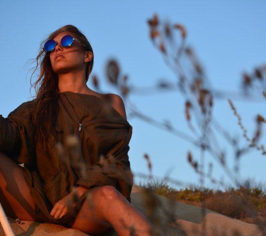 Dioptrické sluneční brýle.