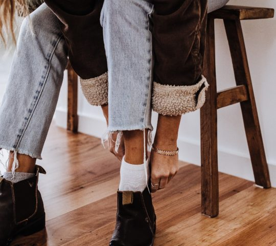 Impregnované kožené boty.